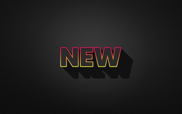 Nouvel Effet De Style De Texte PSD Premium