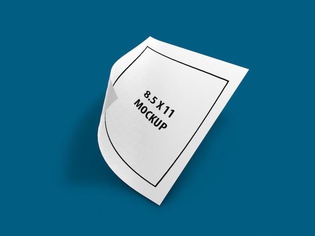Nouvelle maquette de page - maquette de format lettre, dernière maquette, nouvelle maquette PSD Premium
