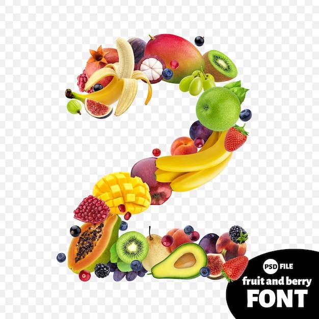 Numéro deux à base de fruits PSD Premium