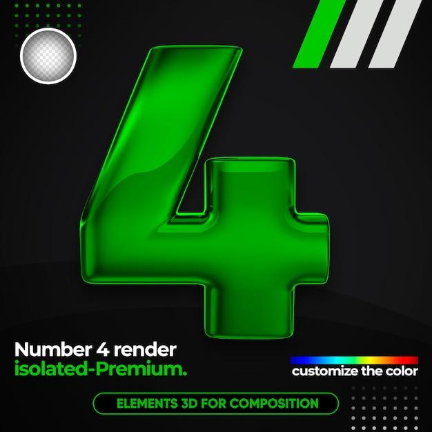 Numéro Réaliste Un Alphabet Métallique En 3d PSD Premium
