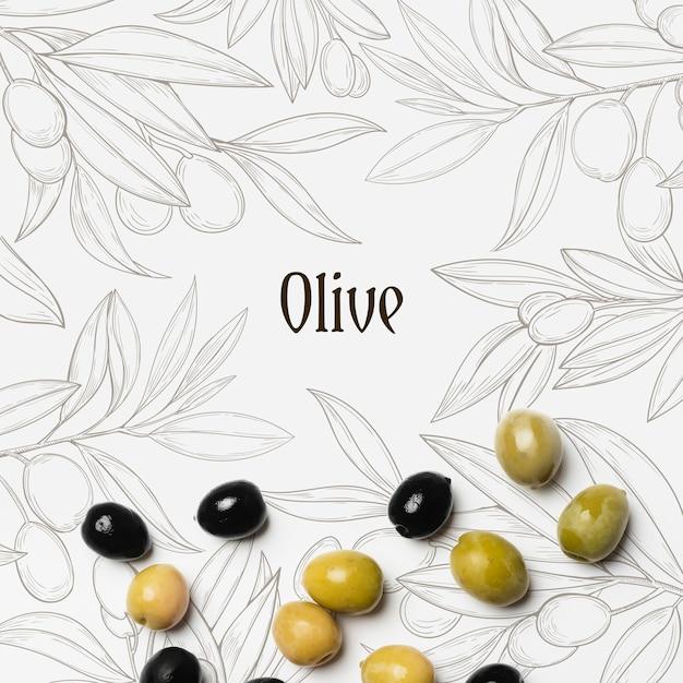 Olives Savoureuses Avec Maquette Psd gratuit
