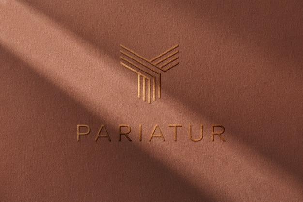 Ombre à Papier Pour Maquette De Logo PSD Premium