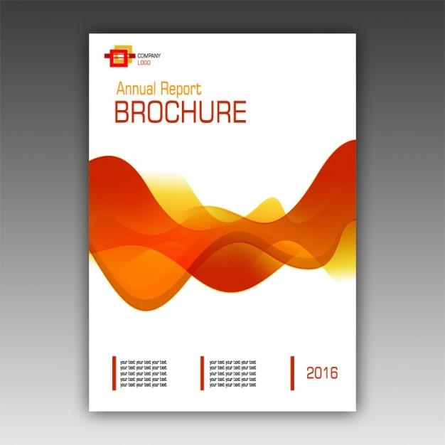 Orange Brochure Modèle Psd gratuit