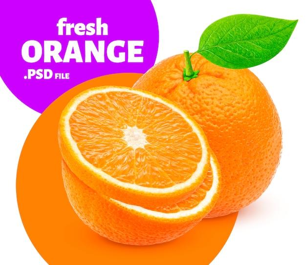 Orange Fruit Isolé, Bannière PSD Premium