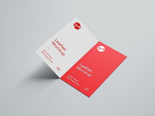 Ouvrir La Maquette De La Brochure En Deux Volets PSD Premium