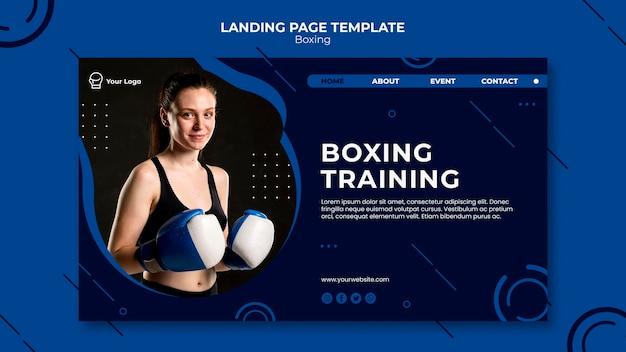 Page De Destination De Boxe Et D'entraînement Psd gratuit