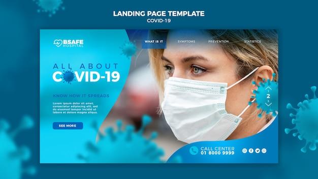 Page De Destination Du Coronavirus Avec Informations Psd gratuit