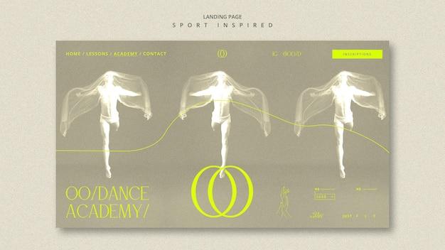 Page De Destination Du Modèle D'académie De Danse Psd gratuit