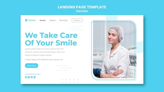 Page De Destination Du Modèle D'annonce De Dentiste PSD Premium