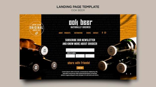 Page De Destination Du Modèle De Bière Ook Psd gratuit