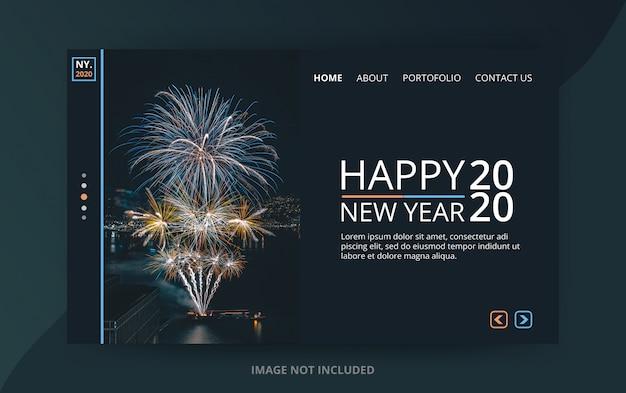 Page De Destination Du Nouvel An 2020 PSD Premium