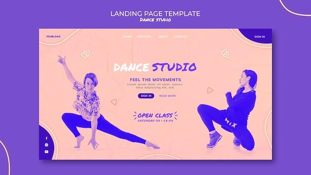 Page De Destination Du Studio De Danse Avec Photo PSD Premium
