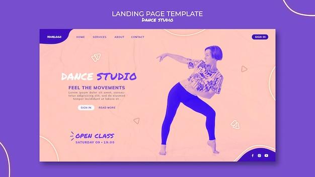 Page De Destination Du Studio De Danse PSD Premium