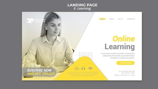 Page De Destination E-learning Psd gratuit