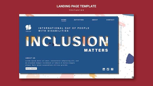 Page De Destination De L'inclusion PSD Premium