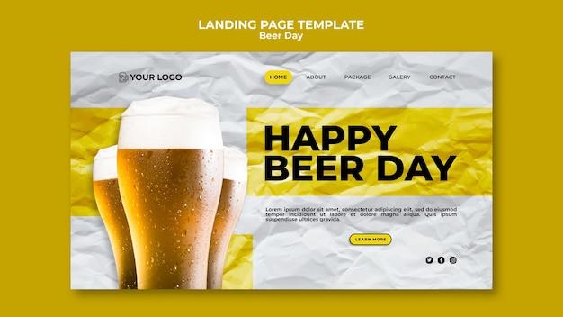 Page De Destination De La Journée De La Bière Psd gratuit