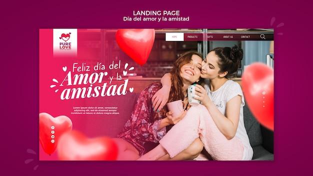 Page De Destination Pour La Célébration De La Saint-valentin Psd gratuit