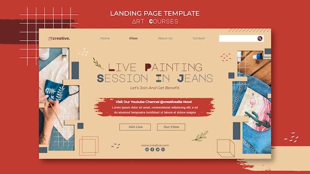 Page De Destination Pour Les Cours De Peinture Psd gratuit