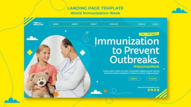 Page De Destination De La Semaine Mondiale De La Vaccination Psd gratuit
