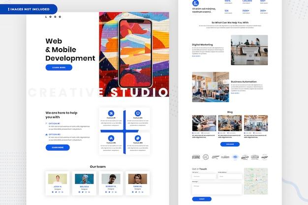 Page Du Site Web De Développement Web Et Mobile PSD Premium
