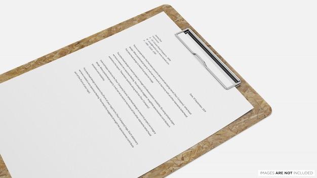 Papier a4 avec presse-papiers psd maquette PSD Premium