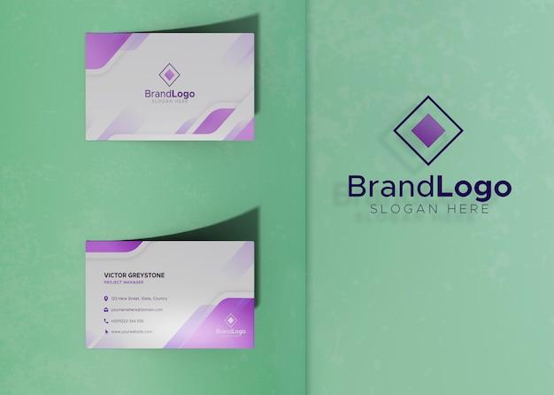 Papier d'identité de carte de visite avec logo d'identité Psd gratuit
