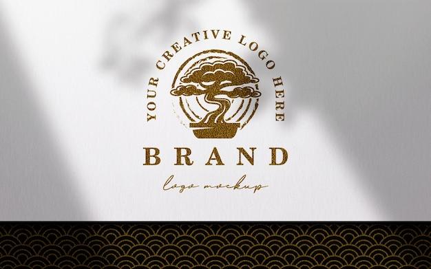 Papier Propre Sur Maquette De Logo En Tissu Japonais PSD Premium