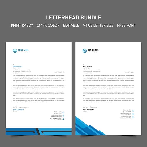 Papier à en-tête PSD Premium