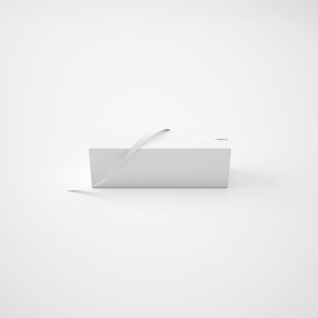 Paquet Blanc Avec Ruban Psd gratuit