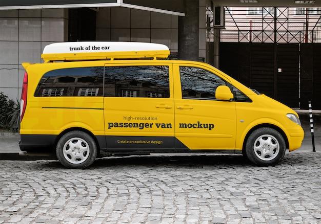 Passenger Van Mockup PSD Premium