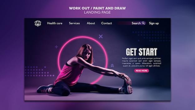 Peindre Et Dessiner Un Modèle De Page De Destination PSD Premium
