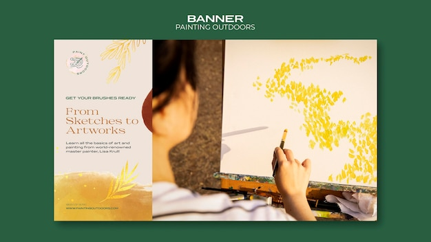 Peinture à L'extérieur De La Bannière De Modèle D'annonce Psd gratuit