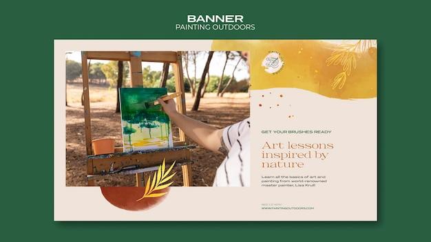 Peinture à L'extérieur De La Bannière De Modèle Psd gratuit