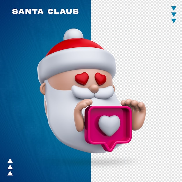 Père Noël Comme Le Rendu 3d Isolé PSD Premium