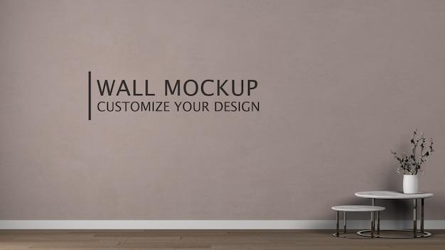 Personnalisation Du Mur De Design D'intérieur Psd gratuit