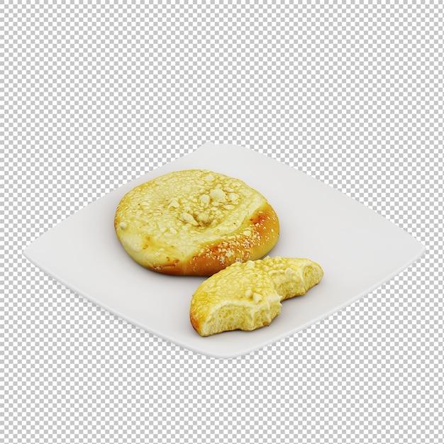Petit déjeuner isométrique PSD Premium