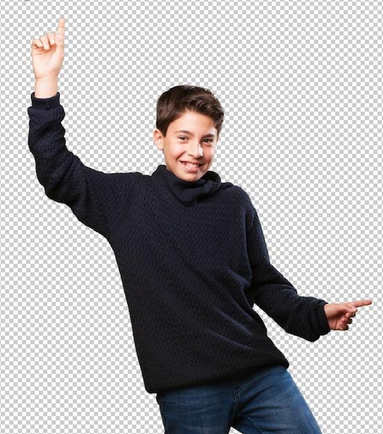Petit garçon danse PSD Premium
