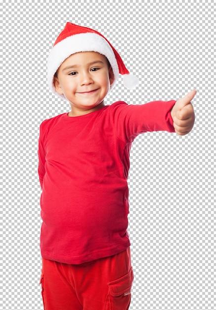 Petit garçon fête noël PSD Premium