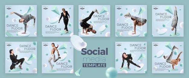 Piste De Danse Réseaux Sociaux Post Tempalte PSD Premium