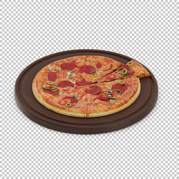 Pizza isométrique PSD Premium