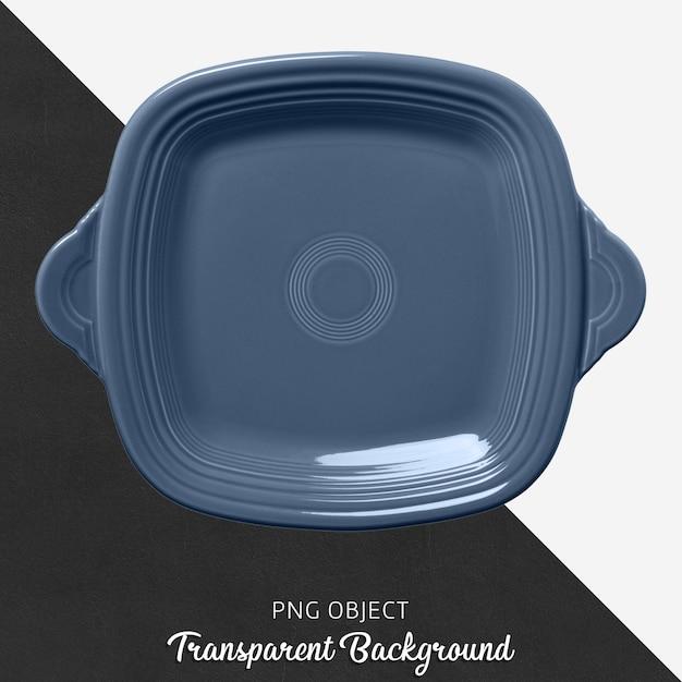 Plaque de cuisson carrée bleue sur fond transparent PSD Premium