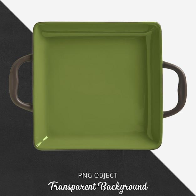 Plaque de cuisson verte carrée transparente avec poignée PSD Premium
