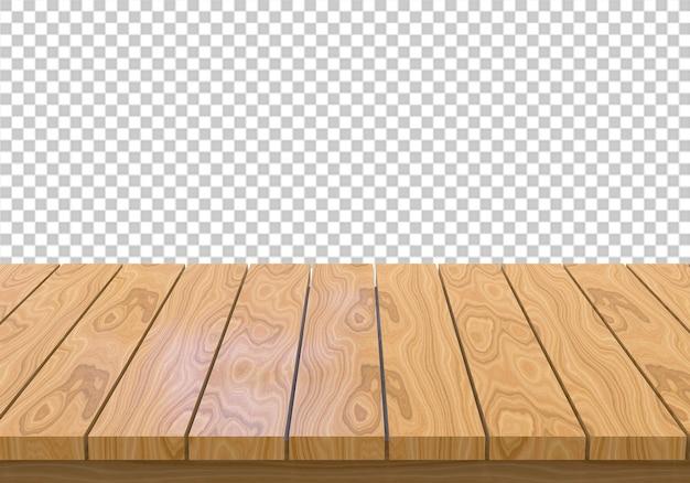 Plateau en bois isolé sur fond transparent PSD Premium