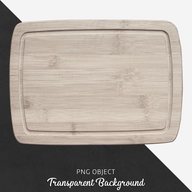 Plateau de service en bois sur fond transparent PSD Premium