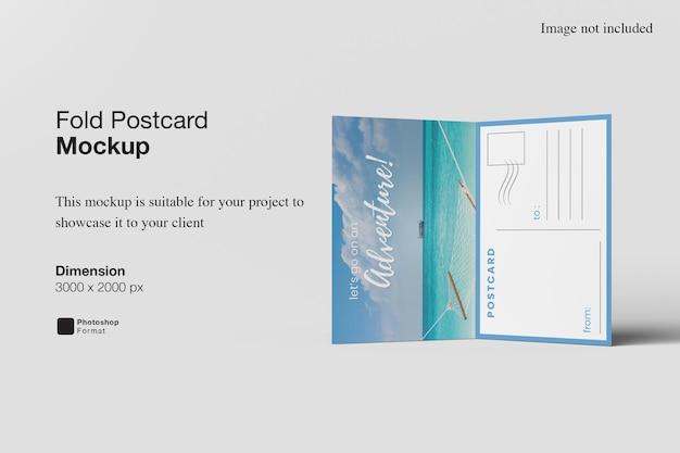 Plier Le Rendu De Conception De Maquette De Carte Postale PSD Premium