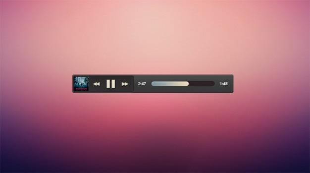Pochette De L'album Sombre Micro Lecteur De Musique Minimale Psd gratuit