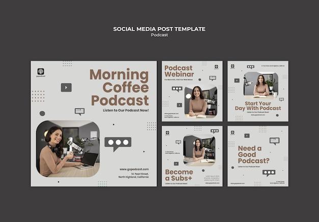 Podcasts Sur Les Réseaux Sociaux Psd gratuit