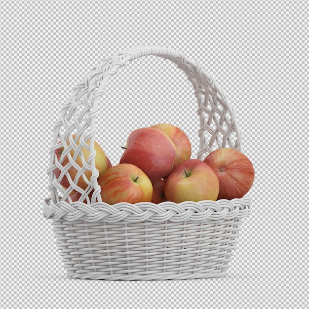 Pommes rendu 3d PSD Premium