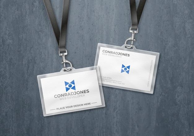 Porte-cartes En Plastique Transparent Psd gratuit