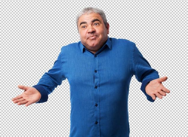 Portrait d'un homme d'âge mûr ayant un doute PSD Premium